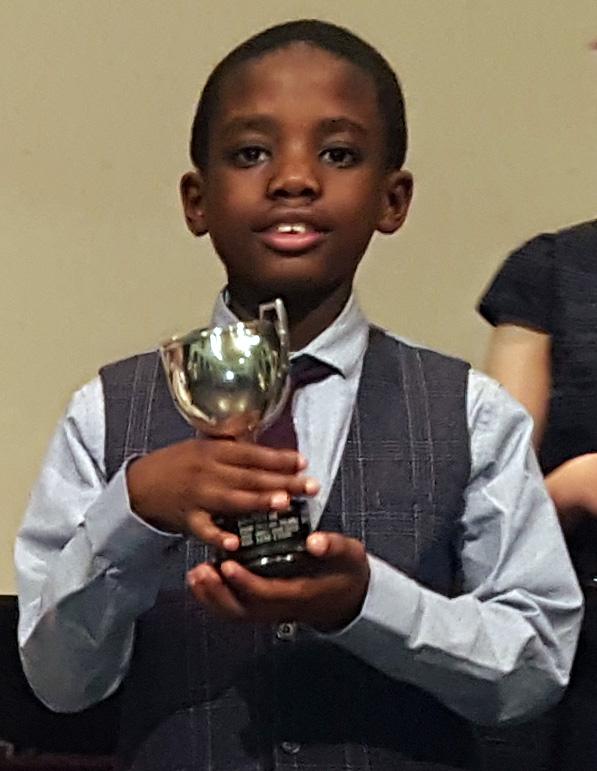 Niran with trophy